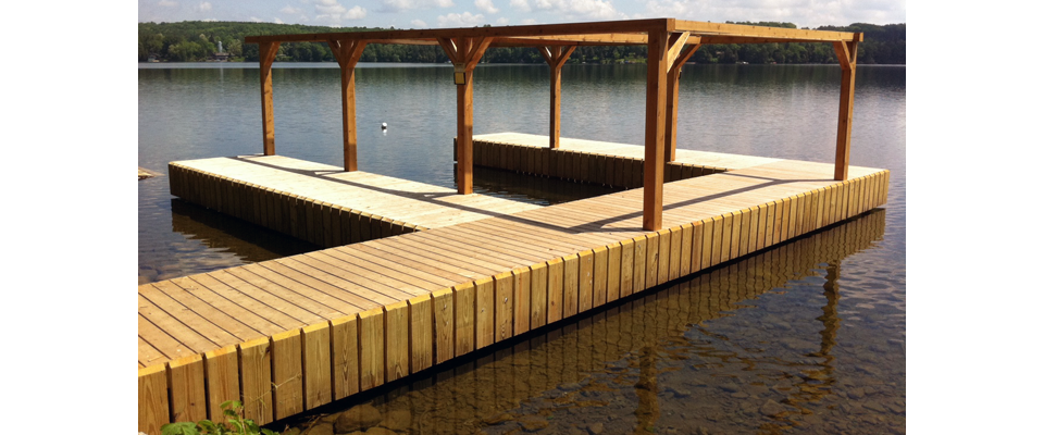 F Shaped Dock Cazenovia